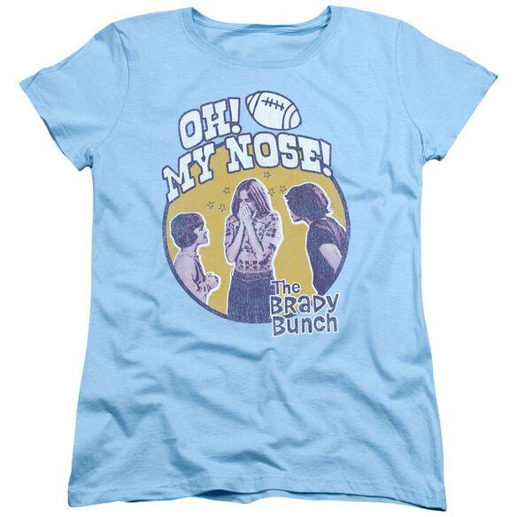 Brady Bunch My Nose Short Sleeve Womens Tee Light T-Shirt