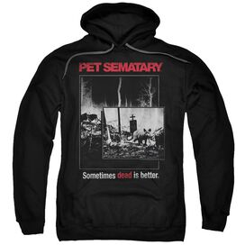 Pet Semetary Cat Poster Adult Pull Over Hoodie