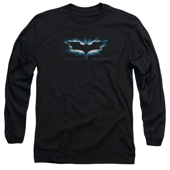Dark Knight High Impact Burst Logo Long Sleeve Adult T-Shirt