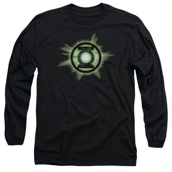 Green Lantern Green Glow Long Sleeve Adult T-Shirt