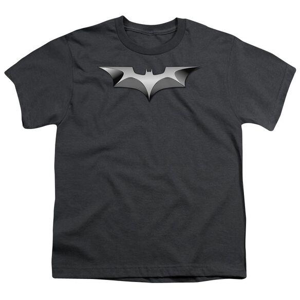 Dark Knight Metal Bat Logo Short Sleeve Youth T-Shirt