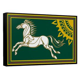 Lord Of The Rings Rohan Banner Canvas Wall Art With Back Board