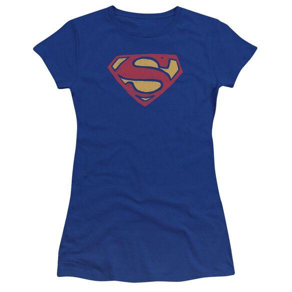 Superman Super Rough Premium Bella Junior Sheer Jersey Royal