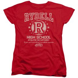 GREASE RYDELL HIGH - S/S WOMENS TEE - RED T-Shirt