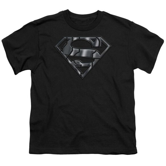 SUPERMAN MECH SHIELD - S/S YOUTH 18/1 - BLACK T-Shirt