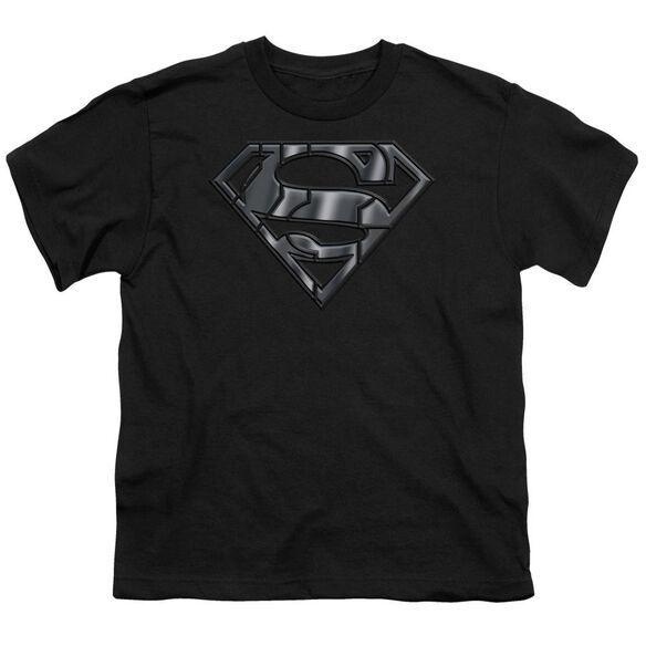 SUPERMAN MECH SHIELD - S/S YOUTH 18/1 - BLACK T-Shirt