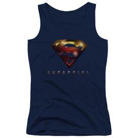 Supergirl Logo Glare Juniors Tank Top