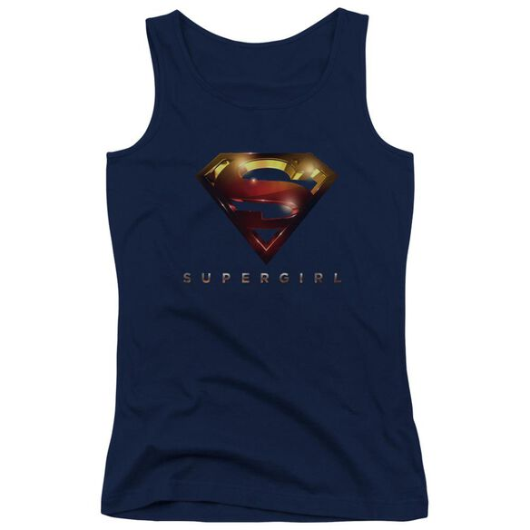 Supergirl Logo Glare Juniors Tank Top