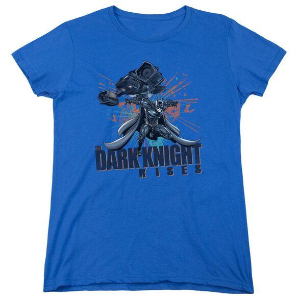 Dark Knight Rises Batwing Short Sleeve Womens Tee Royal T-Shirt