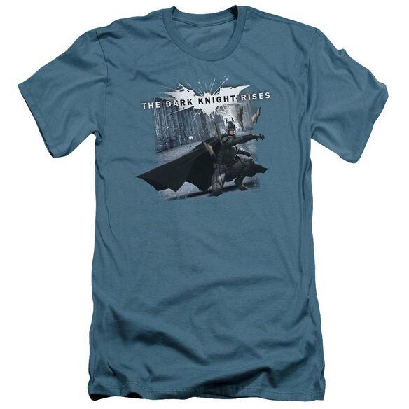 Dark Knight Rises Batarang Throw Short Sleeve Adult T-Shirt