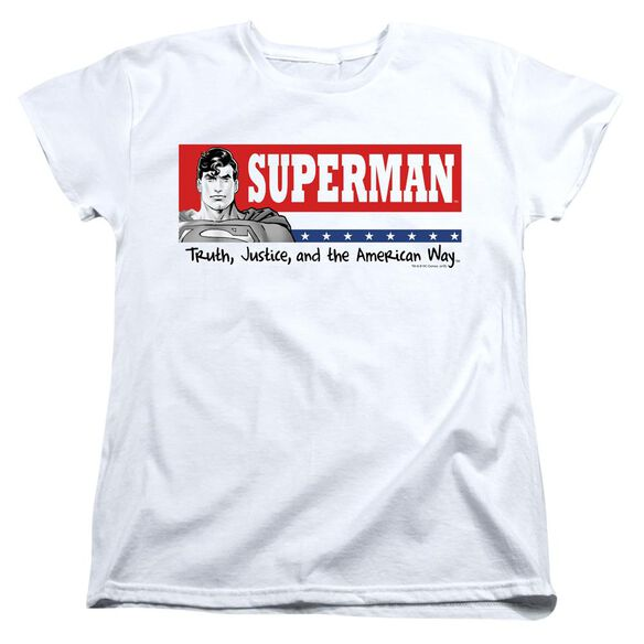 SUPERMAN SUPERMAN FOR PRESIDENT - S/S WOMENS TEE - WHITE T-Shirt