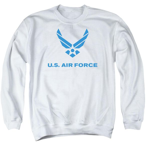 Air Force Distressed Logo Adult Crewneck Sweatshirt