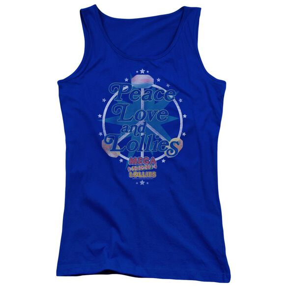 Smarties Peace Lollies Juniors Tank Top Royal