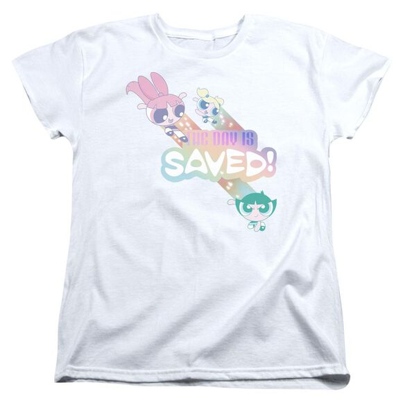 Powerpuff Girls The Day Is Saved Short Sleeve Womens Tee T-Shirt