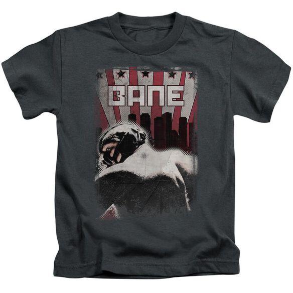 Dark Knight Rises Bane Poster Short Sleeve Juvenile Charcoal Md T-Shirt