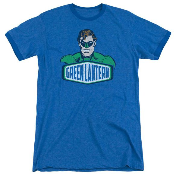 Dco Green Lantern Sign Adult Heather Ringer Royal Blue