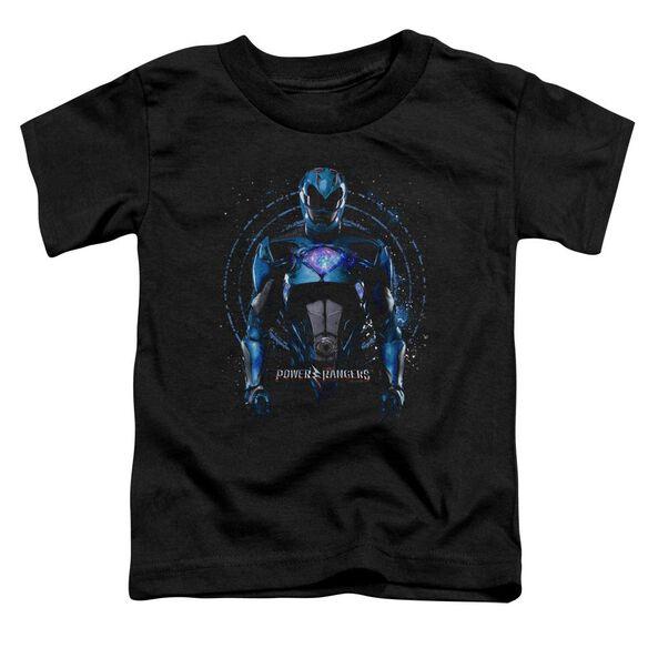 Power Rangers Blue Ranger Short Sleeve Toddler Tee Black T-Shirt