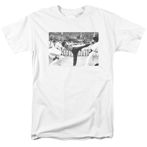 Bruce Lee Kick To The Head Short Sleeve Adult T-Shirt