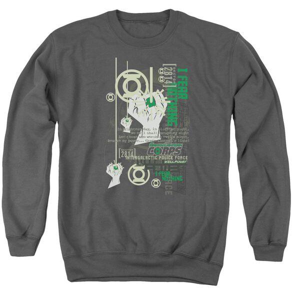 Green Lantern Core Strength Adult Crewneck Sweatshirt