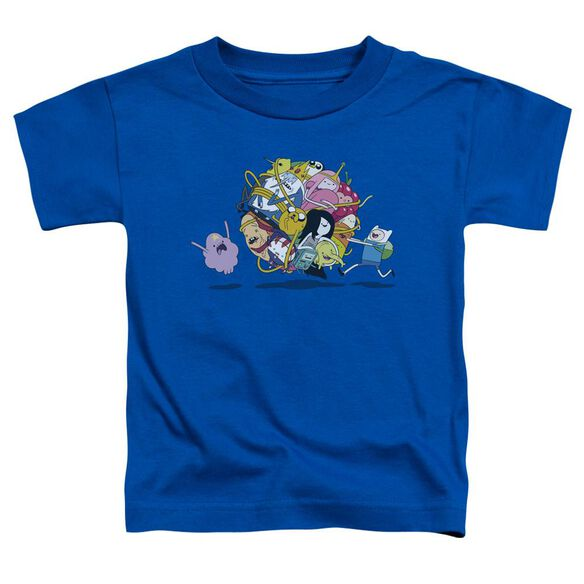 Adventure Time Glob Ball Short Sleeve Toddler Tee Royal Blue T-Shirt