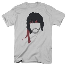 Rambo:First Blood Ii Hair Short Sleeve Adult Silver T-Shirt