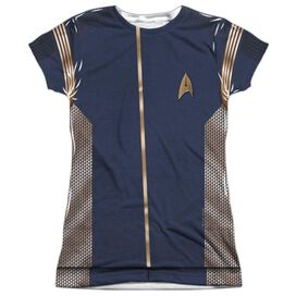 Star Trek Discovery Command Uniform Short Sleeve Junior Poly Crew T-Shirt