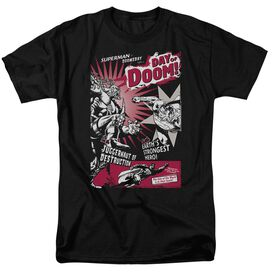 Superman Day Of Doom Short Sleeve Adult T-Shirt