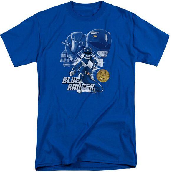 Power Rangers Ranger Short Sleeve Adult Tall Royal T-Shirt