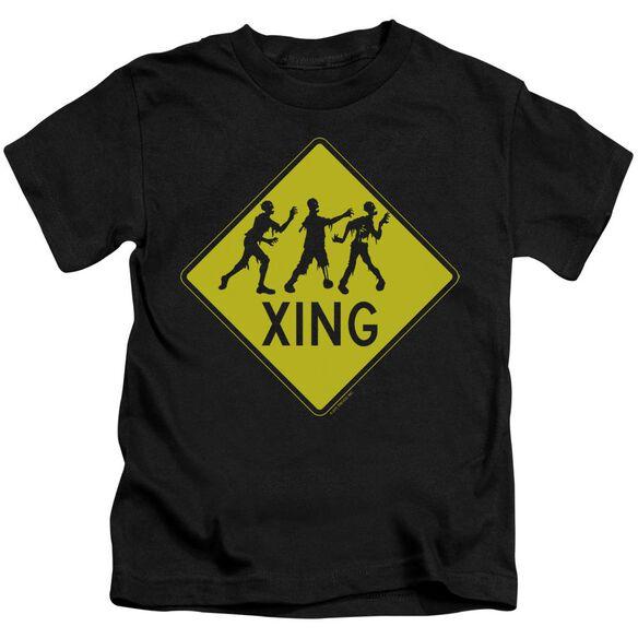 Zombie Xing Short Sleeve Juvenile Black T-Shirt