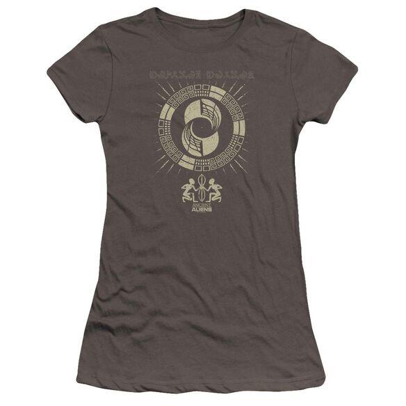 Ancient Aliens Glyphs Hbo Short Sleeve Junior Sheer T-Shirt