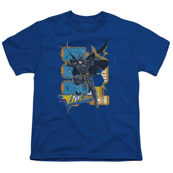 Dark Knight Batarang Tech Short Sleeve Youth Royal T-Shirt