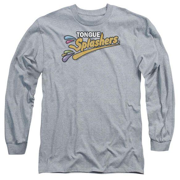 Dubble Bubble Tongue Splashers Logo Long Sleeve Adult Athletic T-Shirt