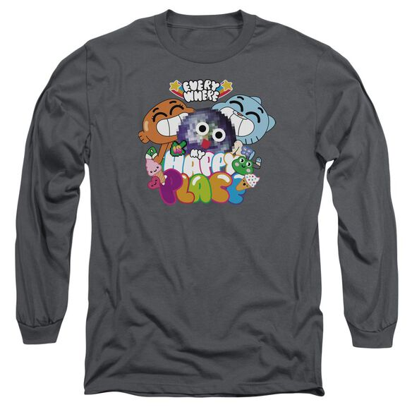 Amazing World Of Gumball Happy Place Long Sleeve Adult T-Shirt