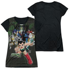Astro Boy Group Short Sleeve Junior Poly Black Back T-Shirt