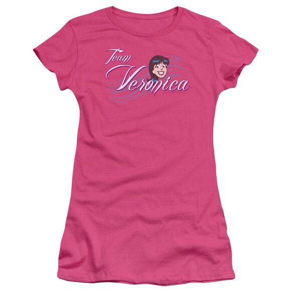 Archie Comics Team Veronica Short Sleeve Junior Sheer Hot T-Shirt