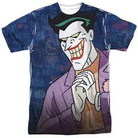 Batman The Animated Series Plotting Short Sleeve Adult Poly Crew T-Shirt