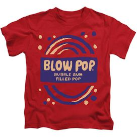 Tootsie Roll Blow Pop Rough Short Sleeve Juvenile Red T-Shirt
