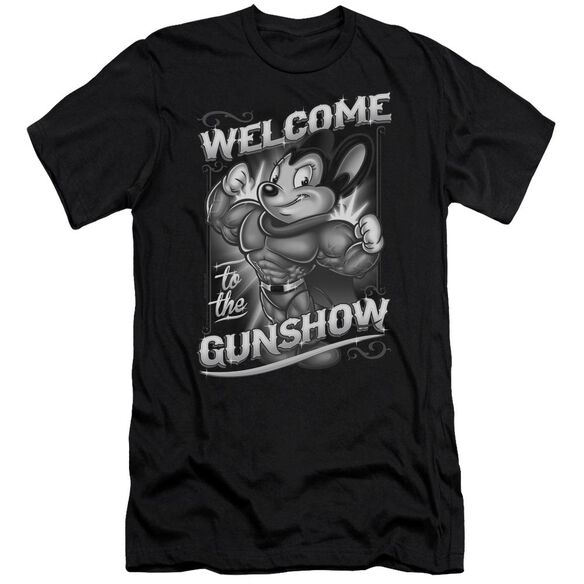 Mighty Mouse Mighty Gunshow Premuim Canvas Adult Slim Fit