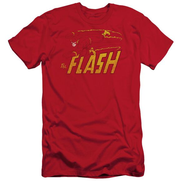 Dc Flash Speed Distressed Short Sleeve Adult T-Shirt