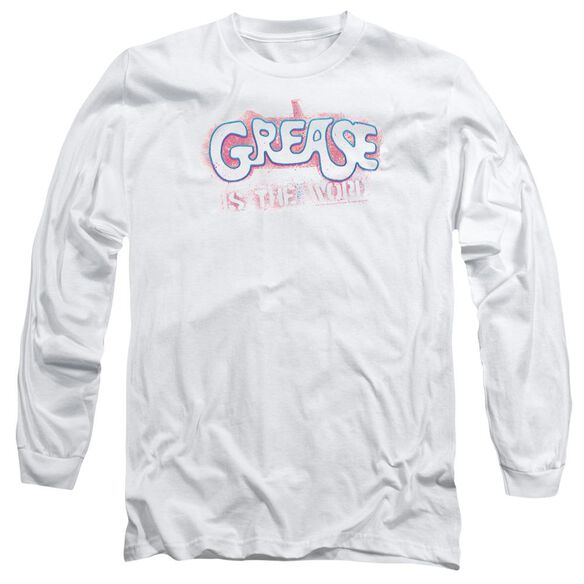 Grease Grease Is The Word Long Sleeve Adult T-Shirt