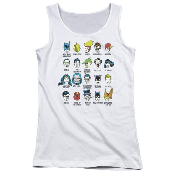 Dc Superhero Issues Juniors Tank Top