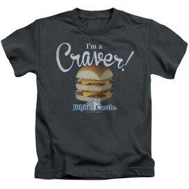 White Castle Craver Short Sleeve Juvenile Charcoal T-Shirt