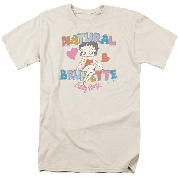 Betty Boop Natural Brunette Short Sleeve Adult Cream T-Shirt