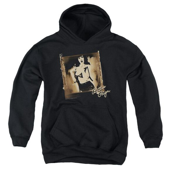 Bettie Page Exposed Youth Pull Over Hoodie