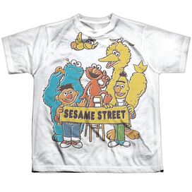 Sesame Street Block Party Short Sleeve Youth Poly Crew T-Shirt