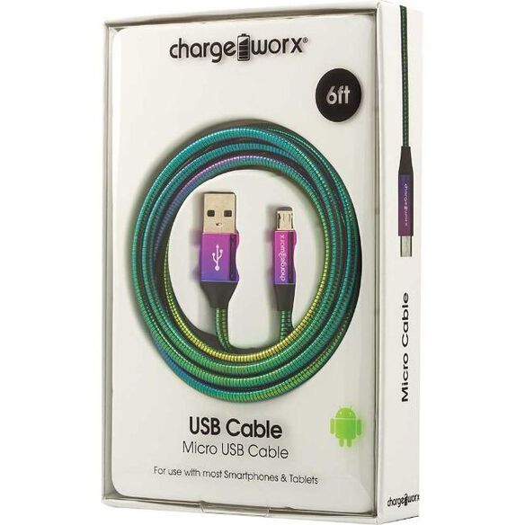 Chargeworx Micro USB Cable 6ft