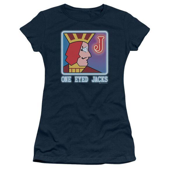 Twin Peaks One Eyed Jacks Short Sleeve Junior Sheer T-Shirt