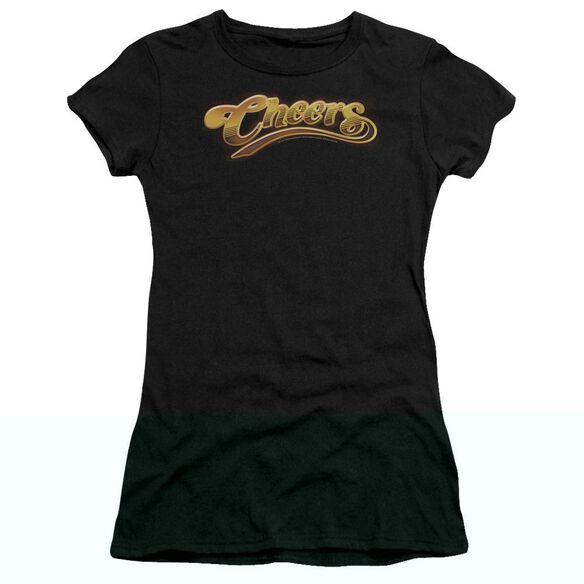 CHEERS CHEERS LOGO - S/S JUNIOR SHEER - BLACK T-Shirt