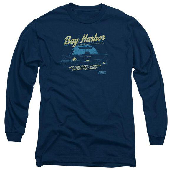 Dexter Moonlight Fishing Long Sleeve Adult T-Shirt