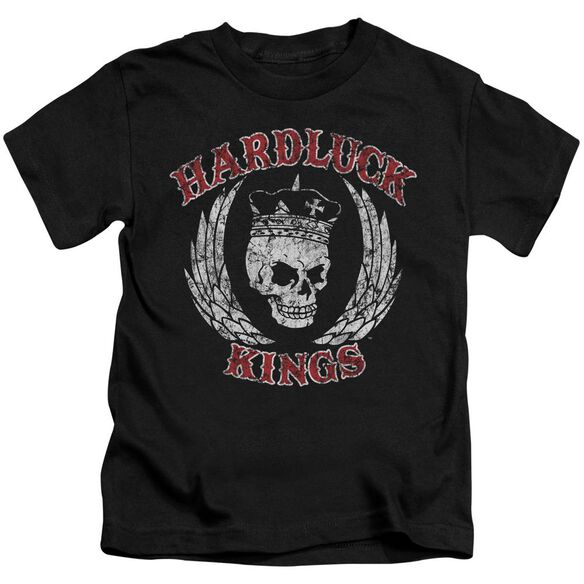 Hardluck Kings Red Letter Distressed Short Sleeve Juvenile T-Shirt